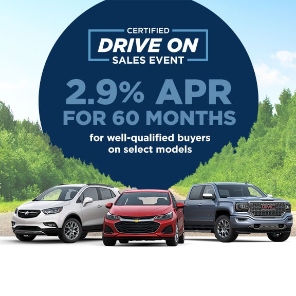 Certified Pre-Owned Drive On Sales Event 2.9% APR for 60 Months for Well-Qualifed Buyers