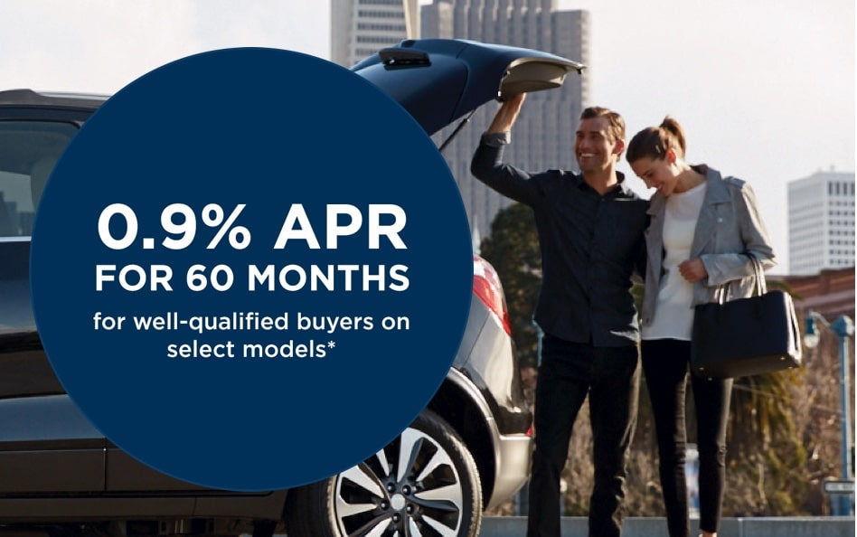 Get 0.9% for 60 monthsFor well-qualified buyers on select models*